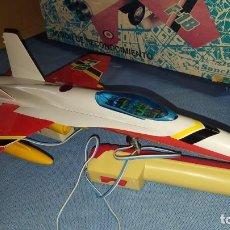 Juguetes antiguos Sanchís: AVION SUPER REACTOR F 18 DE SANCHÍS - CABLEDIRIGIDO- AÑOS 70 - . Lote 187224432