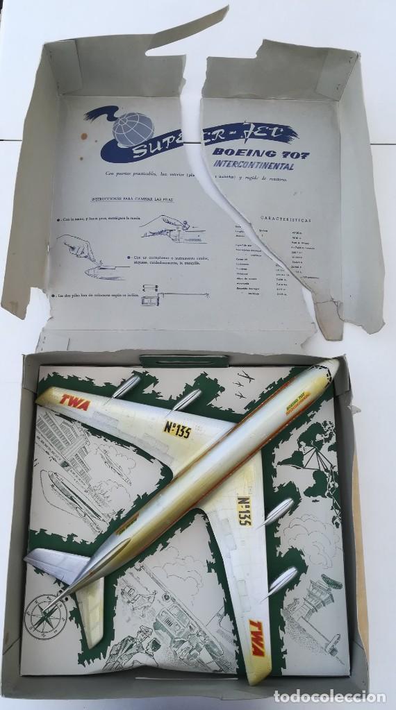 AVIÓN SANCHIS BOEING 707 INTERCONTINENTAL TWA REF. 135 (Juguetes - Marcas Clásicas - Sanchís)