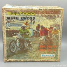 Juguetes antiguos Sanchís: ORIGINAL SANCHIS BULTACO MOTO CROSS CAJA VACÍA. Lote 193695800