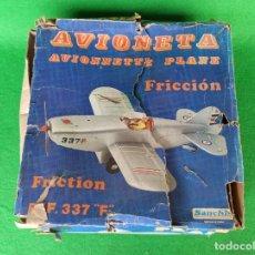 Juguetes antiguos Sanchís: AVIONETA DE SANCHIS A FRICCION REFERENCIA 337 F. Lote 193731876