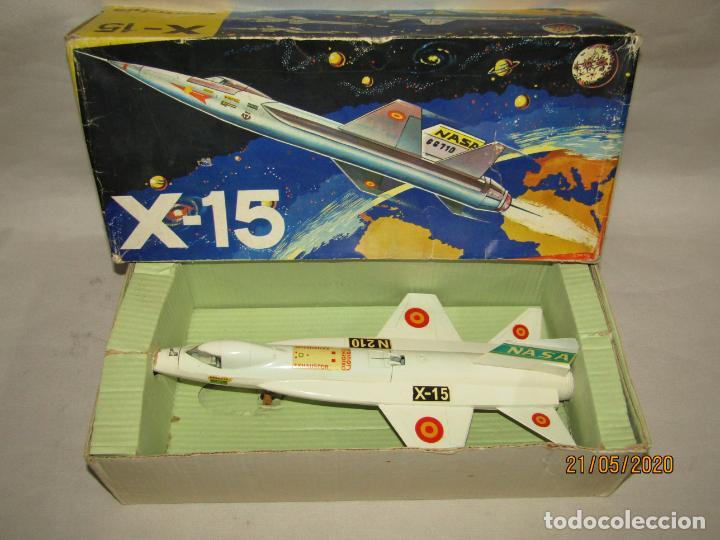 Antiguo Avión Experimental de la NASA X-15 Lanzamisiles a Fricción de Juguetes SANCHIS, usado segunda mano