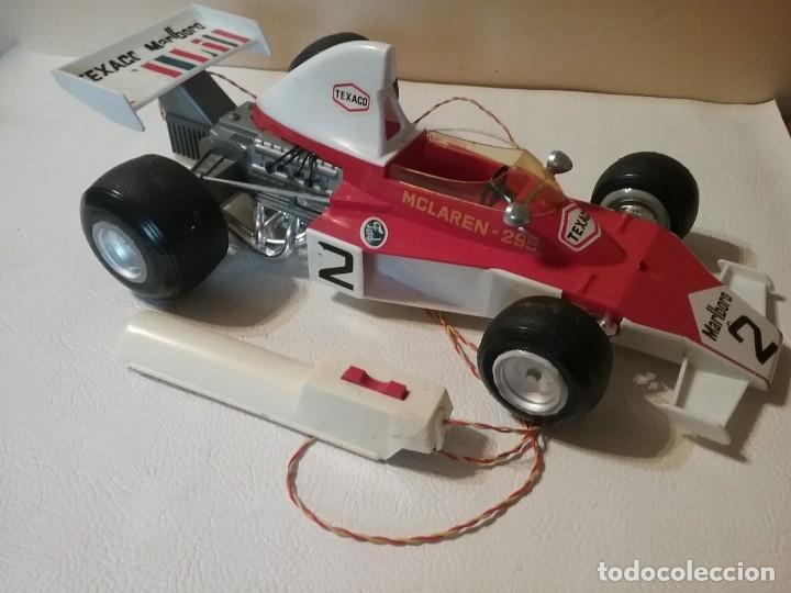 Juguetes antiguos Sanchís: Antiguo coche radiocontrol SANCHIS FORMULA 1 McLaren 299 FUNCIONANDO. - Foto 3 - 205358405
