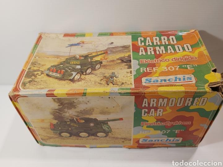 Juguetes antiguos Sanchís: ANTIGUO TANQUE CARRO ARMADOS SANCHIS REF. 307 E EN SU CAJA ORIGINAL - Foto 4 - 205517448