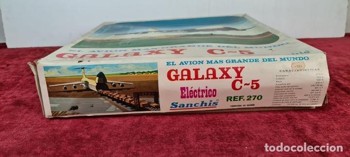 Juguetes antiguos Sanchís: AVIÓN GALAXY C-5 ELECTRICO. SANCHIS. REF: 270. CAJA ORIGINAL. CIRCA 1970. - Foto 17 - 223105690