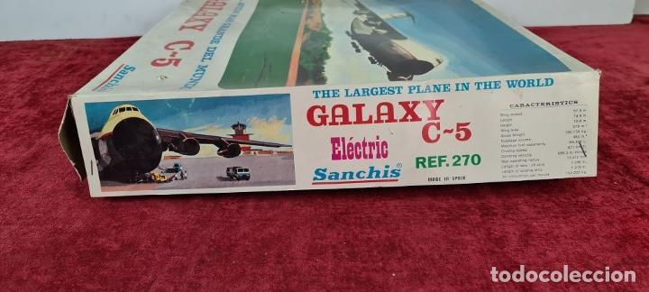Juguetes antiguos Sanchís: AVIÓN GALAXY C-5 ELECTRICO. SANCHIS. REF: 270. CAJA ORIGINAL. CIRCA 1970. - Foto 18 - 223105690