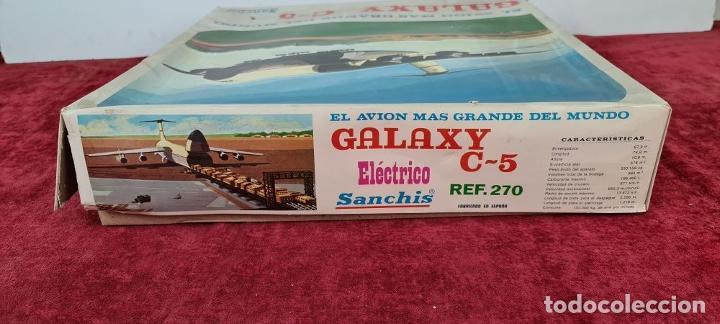 Juguetes antiguos Sanchís: AVIÓN GALAXY C-5 ELECTRICO. SANCHIS. REF: 270. CAJA ORIGINAL. CIRCA 1970. - Foto 19 - 223105690