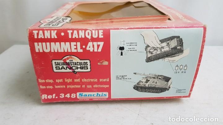 Juguetes antiguos Sanchís: Tanque militar hummel 417 salvaobstaculos ref 348 de sanchis - Foto 4 - 237012295