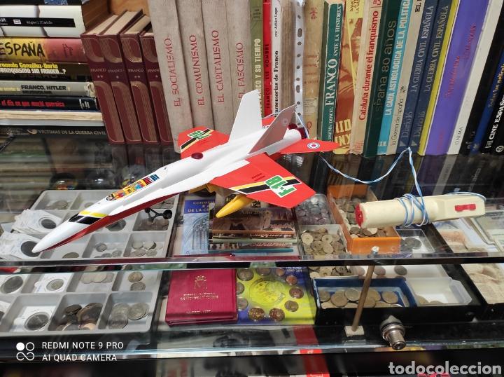 AVIÓN F-18 DE SANCHÍS AÑOS 70 DE CABLE (Juguetes - Marcas Clásicas - Sanchís)