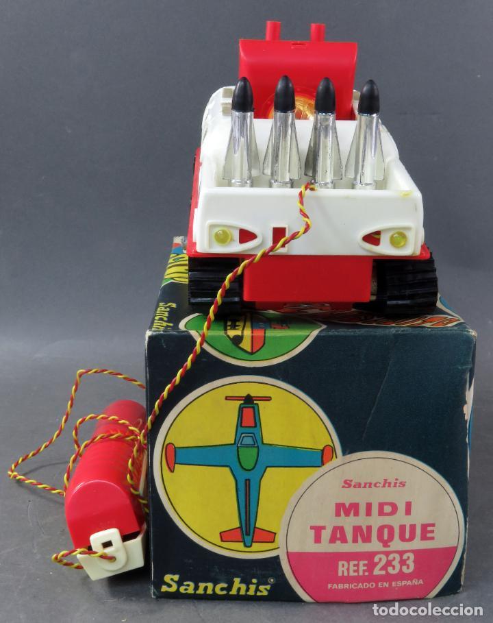 Juguetes antiguos Sanchís: Tanque Midi Sanchisquito Sanchis Ref 233 Serie Eléctrica cabledirigido caja años 70 Funciona - Foto 4 - 245240000