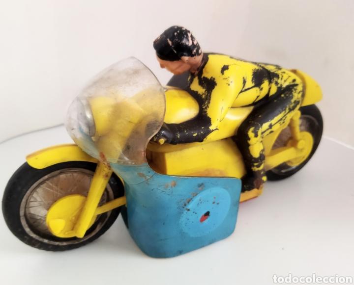 Juguetes antiguos Sanchís: Moto de competición Sanchís .años 60 - Foto 5 - 245531070