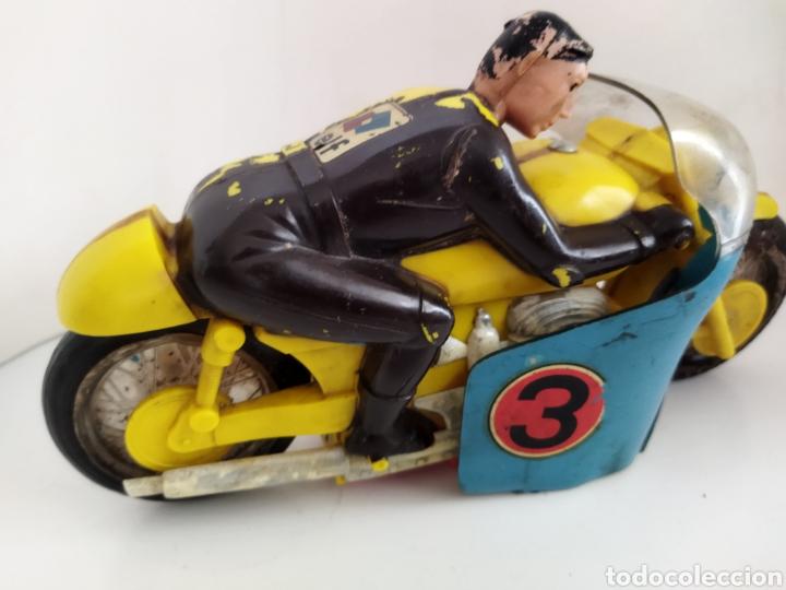 Juguetes antiguos Sanchís: Moto de competición Sanchís .años 60 - Foto 6 - 245531070