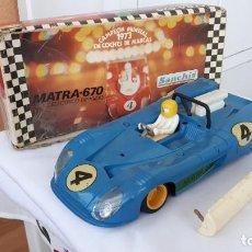 Brinquedos antigos Sanchís: COCHE MATRA 670 DE SANCHIS EN CAJA ELÉCTRICO DIRIGIDO. Lote 245732040