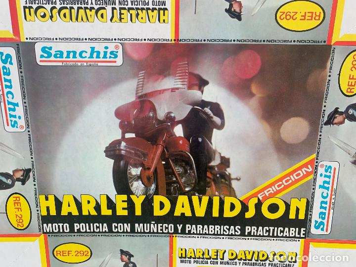 Juguetes antiguos Sanchís: SANCHIS HARLEY DAVIDSON RFA 292 FOTOLITOS PARA CAJA ORIGINAL - Foto 4 - 246083655