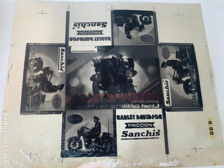 Juguetes antiguos Sanchís: SANCHIS HARLEY DAVIDSON RFA 292 FOTOLITOS PARA CAJA ORIGINAL - Foto 7 - 246083655