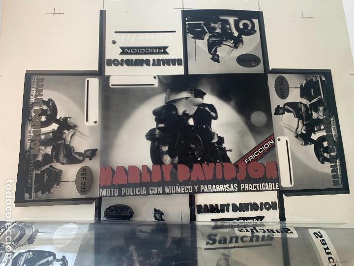 Juguetes antiguos Sanchís: SANCHIS HARLEY DAVIDSON RFA 292 FOTOLITOS PARA CAJA ORIGINAL - Foto 9 - 246083655