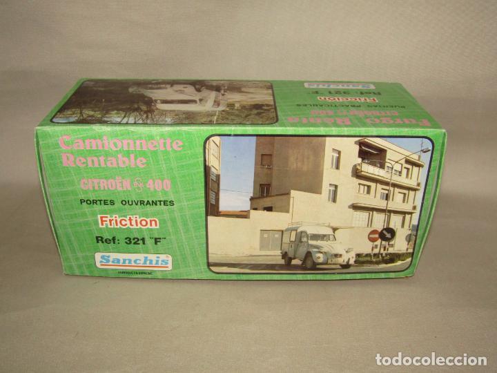 Juguetes antiguos Sanchís: Antigua Caja Vacía de la Furgoneta a Fricción CITROËN AK 400 Ref. 321 F de Juguetes SANCHÍS - Foto 2 - 246315125