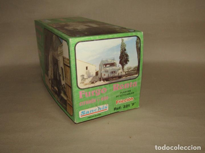 Juguetes antiguos Sanchís: Antigua Caja Vacía de la Furgoneta a Fricción CITROËN AK 400 Ref. 321 F de Juguetes SANCHÍS - Foto 4 - 246315125