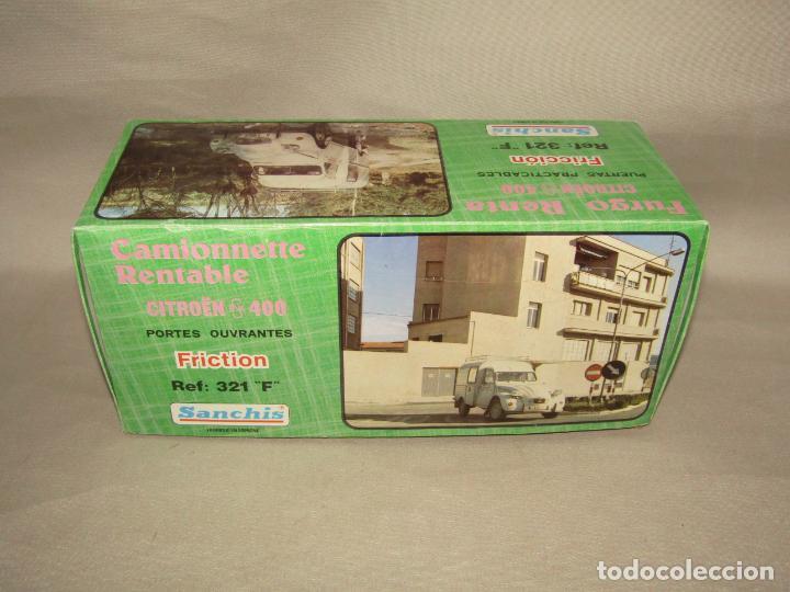 Juguetes antiguos Sanchís: Antigua Caja Vacía de la Furgoneta a Fricción CITROËN AK 400 Ref. 321 F de Juguetes SANCHÍS - Foto 6 - 246315125