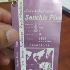 Juguetes antiguos Sanchís: SANCHÍS IBI ALICANTE 1964 ETIQUETA.. Lote 274026343