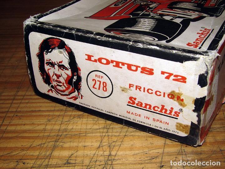 Juguetes antiguos Sanchís: ANTIGUO LOTUS 72 - FITTIPALDI - SANCHIS - EN SU CAJA ORIGINAL - AÑOS 70 - Foto 15 - 277857628