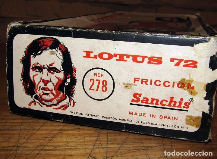 Juguetes antiguos Sanchís: ANTIGUO LOTUS 72 - FITTIPALDI - SANCHIS - EN SU CAJA ORIGINAL - AÑOS 70 - Foto 16 - 277857628