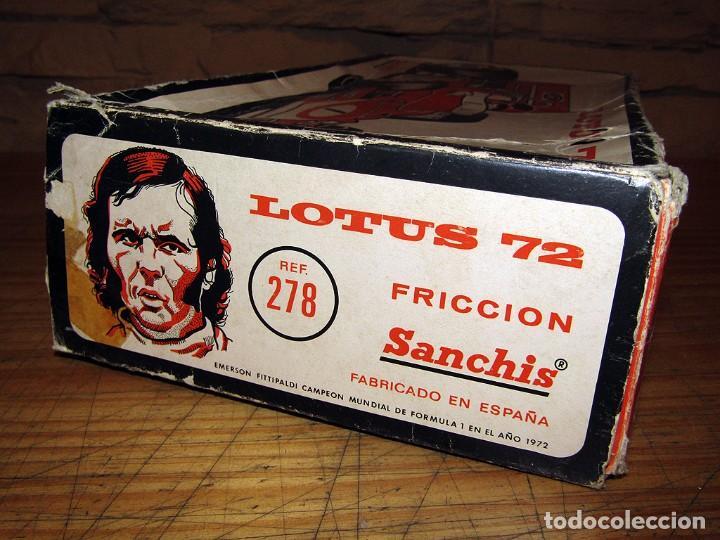 Juguetes antiguos Sanchís: ANTIGUO LOTUS 72 - FITTIPALDI - SANCHIS - EN SU CAJA ORIGINAL - AÑOS 70 - Foto 18 - 277857628