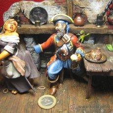 Juguetes Antiguos: SOLDADO PLOMO - LA POSADA PIRATA, SIGLO XVIII - ESCALA 90 MIL. - VER FOTOGRAFIAS. Lote 27108859