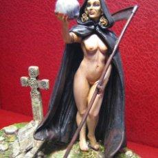 Juguetes Antiguos: FIGURA DE PLOMO - THE DEATH - ESCALA 80 MM - VER FOTOGRAFIAS. Lote 27039774