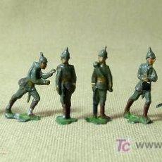 Juguetes Antiguos: SOLDADOS ALEMANES, WWI, 8 FIGURAS SEMIPLANAS, EN PLOMO, 30 MM, NO HEINRICHSEN, 1930S. Lote 18988305