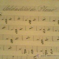Juguetes Antiguos: SOLDADOS DE PLOMO PARTITURA MUNUSCRITA DEL SIGLO XIX ES UN VALS ORIGINAL E INEDITA . Lote 26248869