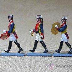 Juguetes Antiguos: GUARDIA CIVIL DE GALA, OFICIAL Y 4 MUSICOS, PLANO PLOMO, VICENTE MALLOL, LEAD FLAT SOLDIER 1980S. Lote 22267501