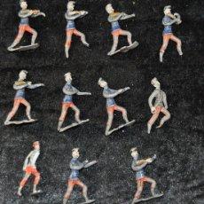 Juguetes Antiguos: LOTE DE 11 SOLDADOS DE PLOMO ALFONSINOS DE PP S.XX.. Lote 26756504