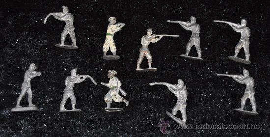 LOTE DE 10 SOLDADOS DE PLOMO DE PP S.XX. (Juguetes - Soldaditos - Soldaditos de plomo)