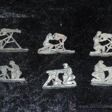 Juguetes Antiguos: LOTE DE 6 AMETRALLADORAS DE PLOMO. ANTIGUOS, GUERRA CIVIL ?. Lote 26756509