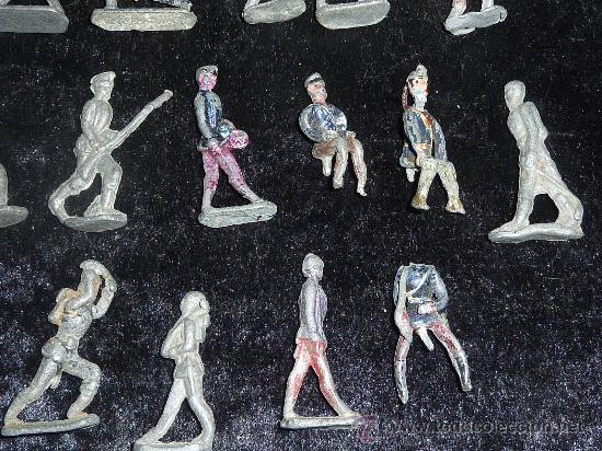 Juguetes Antiguos: Lote de 54 soldados de plomo antiguos. De pp s.XX. - Foto 5 - 26756506