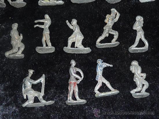 Juguetes Antiguos: Lote de 54 soldados de plomo antiguos. De pp s.XX. - Foto 8 - 26756506