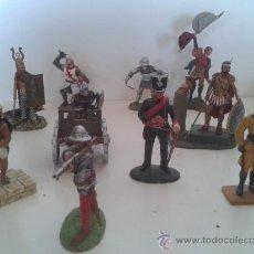 Juguetes Antiguos: LOTE 10 SOLDADOS DE PLOMO, MAS 1 CARRO COMBATE. Lote 108708766