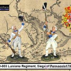 Giochi Antichi: BP30-003 ARTSOLDIERS MINIATURAS SPANISH SOLDIERS LUISIANA REG. SEIGE OF PENSACOLA 1781. . Lote 35460392