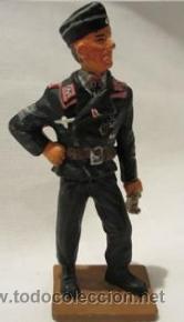 LOTE SOLDADO DE PLOMO - CAPITAN DE CARRO PANZER - ALEMANIA 1943 - WWII NAZIS (Juguetes - Soldaditos - Soldaditos de plomo)