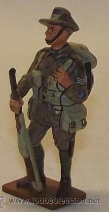 LOTE SOLDADO DE PLOMO - SARGENTO INFANTERIA AUSTRALIANA 1918 - WWI AUSTRALIA (Juguetes - Soldaditos - Soldaditos de plomo)