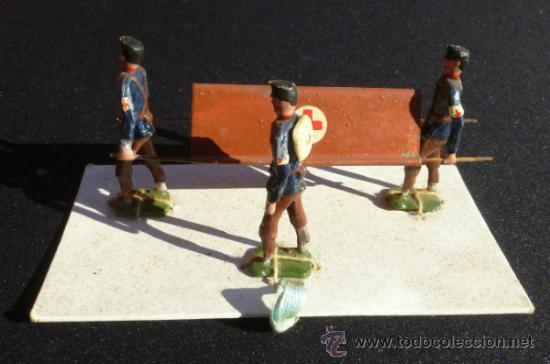 Juguetes Antiguos: CAMILLEROS AÑOS 20 EN CAJA . - Foto 2 - 37627962