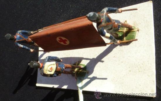 Juguetes Antiguos: CAMILLEROS AÑOS 20 EN CAJA . - Foto 4 - 37627962