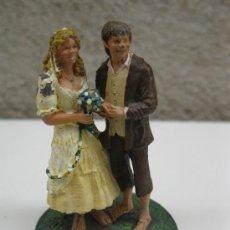 Juguetes Antiguos: SAM Y ROSIE - EL SEÑOR DE LOS ANILLOS - LOTR - FIGURA DE PLOMO - NLP - AÑO 2005.. Lote 37784411