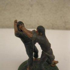 Juguetes Antiguos: SMEAGOL Y DEAGOL - EL SEÑOR DE LOS ANILLOS - LOTR - FIGURA DE PLOMO - NLP - AÑO 2006.. Lote 38053813