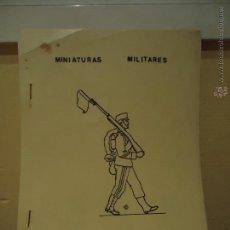 Juguetes Antiguos: MINIATURAS MILITARES EL SOLDADITO DE PLOMO. CATALOGO. Lote 43690559