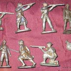 Juguetes Antiguos: LOTE DE 10 SOLDADITOS DE PLOMO (O ESTAÑO O ALUMINIO) MUY ANTIGUOS SOBRE 1920. Lote 47601134