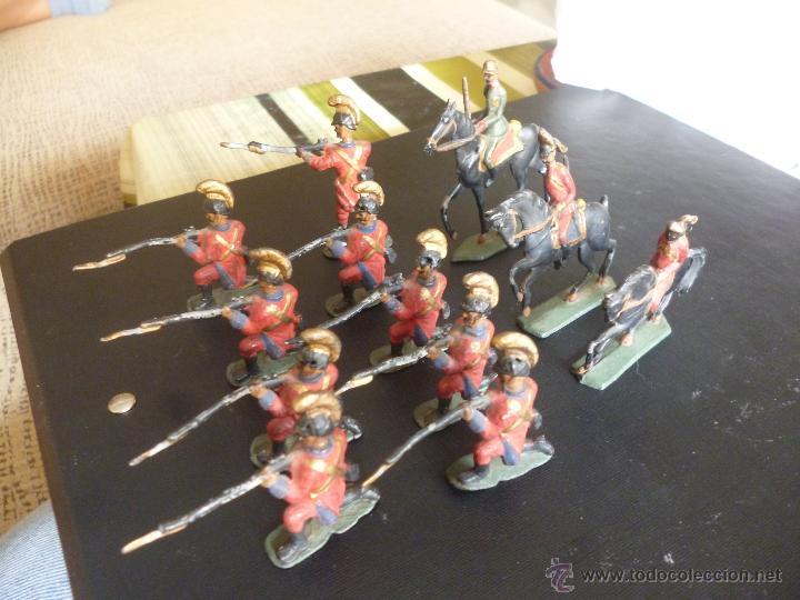 LOTE DE 12 SOLDADITOS DE PLOMO ANTIGUOS (Juguetes - Soldaditos - Soldaditos de plomo)