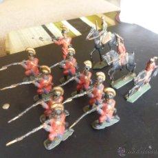 Juguetes Antiguos: LOTE DE 12 SOLDADITOS DE PLOMO ANTIGUOS. Lote 49838852