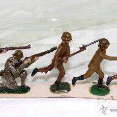 Juguetes Antiguos: 5 INFANTERIA CAQUIS EN BATALLA CASANELLAS-CAPELL. Lote 50449635