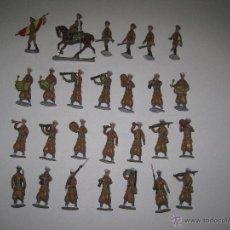 Juguetes Antiguos: REGULARES - SOLDADOS PLOMO- CONJUNTO 90 PIEZAS - FABRICANTE BARTRINA(1956-1960 ) - VER FOTOS . Lote 51098762
